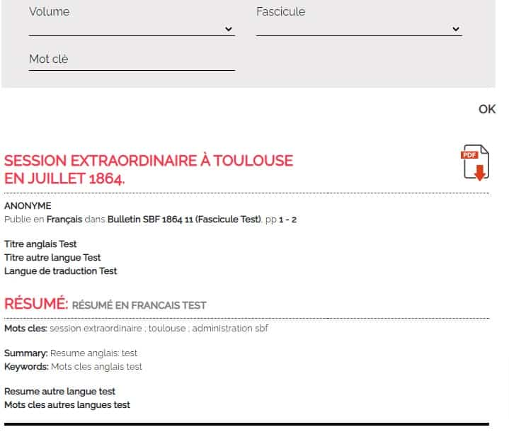 Société Botanique de France-page des articles pour les abonnés