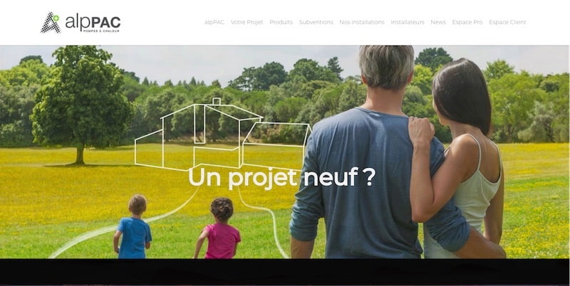 AlpPAC Site internet un projet neuf