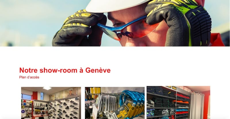 Baud Safety site e-commerce page showroom
