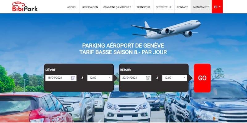 BibiPark site internet page d'accueil