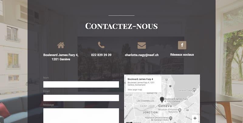 Bibliothèque de l'Immobilier site internet vitrine page contactez nous