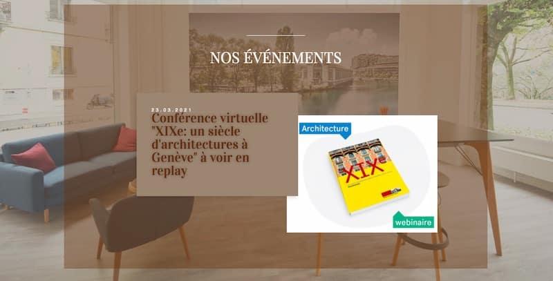 Bibliothèque de l'Immobilier site internet vitrine page nos événements