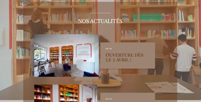 Bibliothèque de l'Immobilier site internet vitrine page nos activités