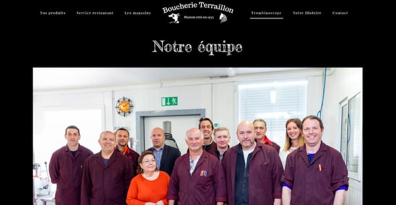 Boucherie Terraillon Site internet page trombinoscope