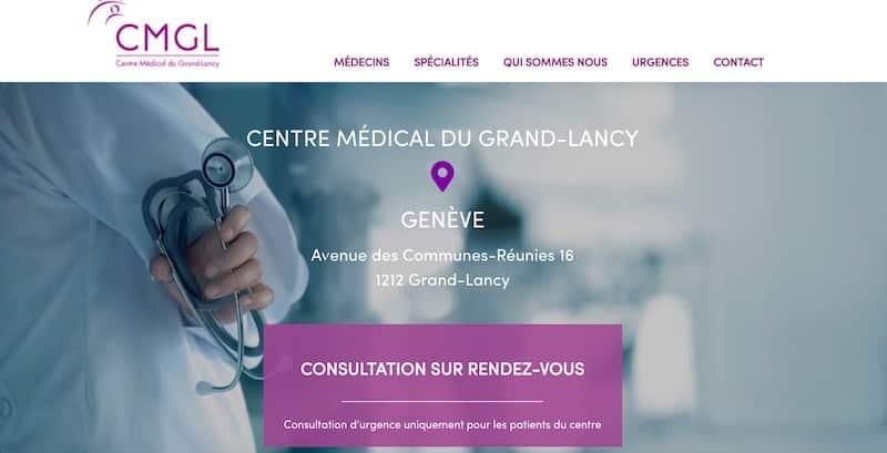 Centre Médical du Grand-Lancy site internet page d'accueil