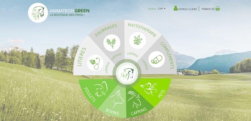 Cheval Santé Animatech green page d'accueil