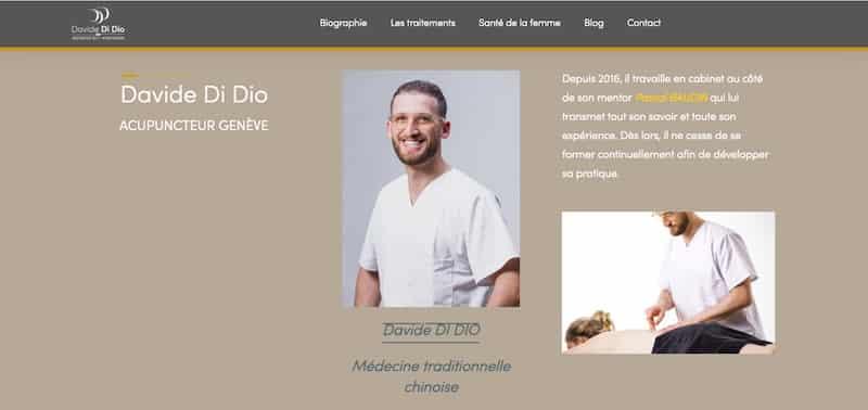 Davide de Dio biographie site internet vitrine