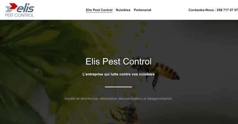 Elis Pest Control Page accueil Ssite Vitrine