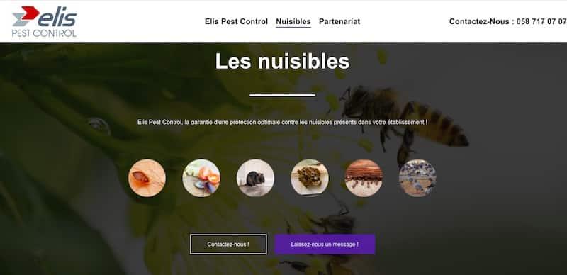 Elis Pest Control Page nuisible Site Vitrine
