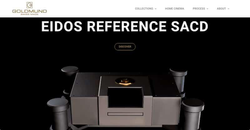 Goldmund site internet vitrine accueil