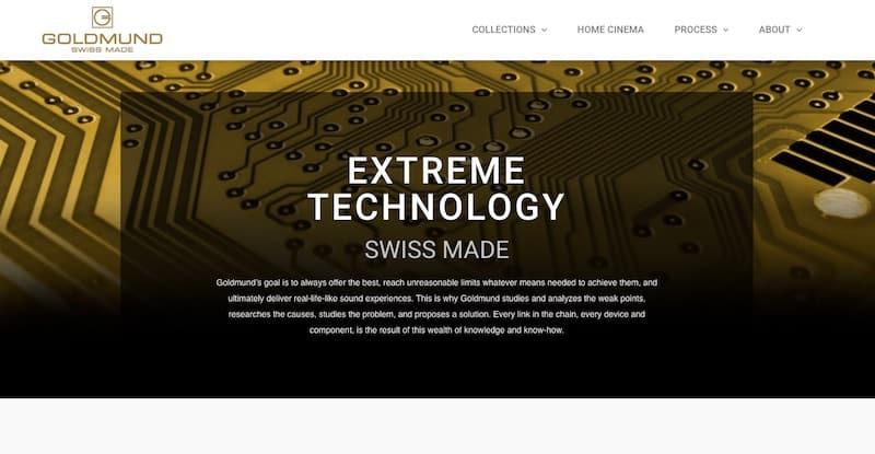 Goldmund site internet vitrine extreme technology