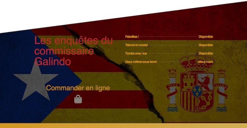 HHA Éditions Site E-commerce Page les enquêtes du commissaire Galindo