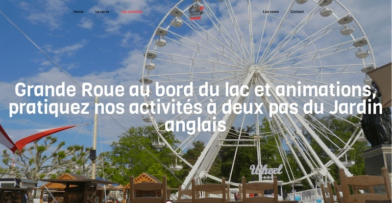 Le Village Suisse site internet les activités
