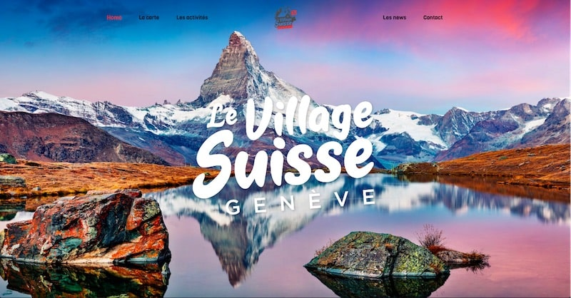 Le Village Suisse site internet Page d'accueil