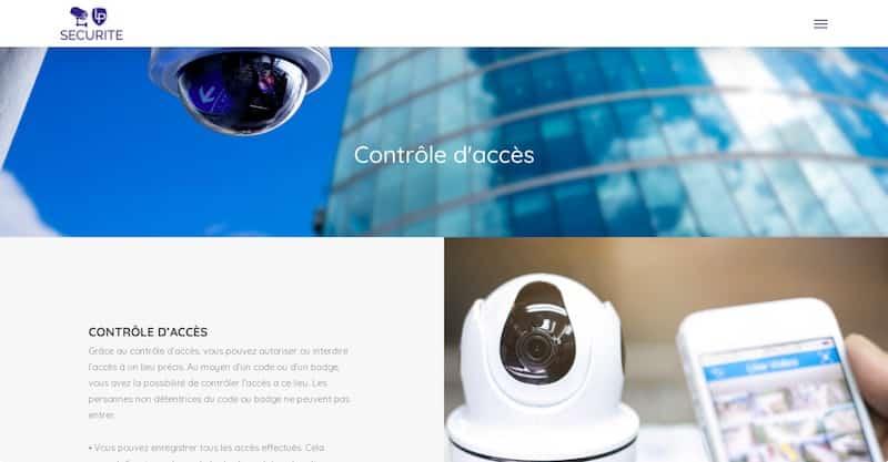 LP Sécurité site internet contrôle d'accés
