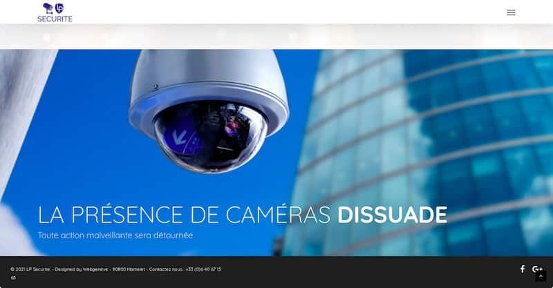 LP Sécurité site internet présence de caméras dissuade