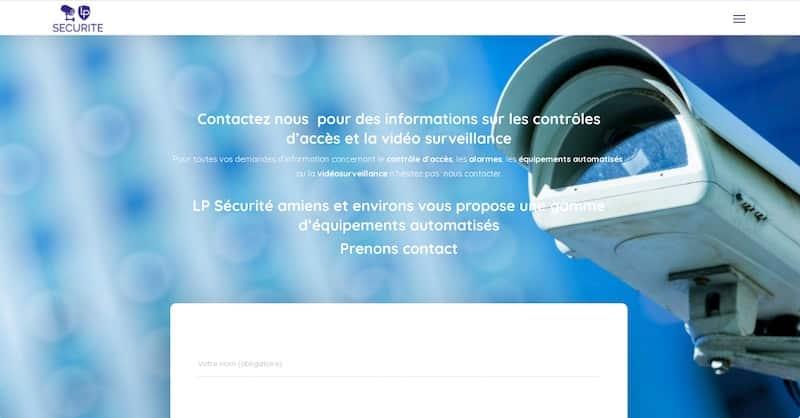 LP Sécurité site internet nous contacter