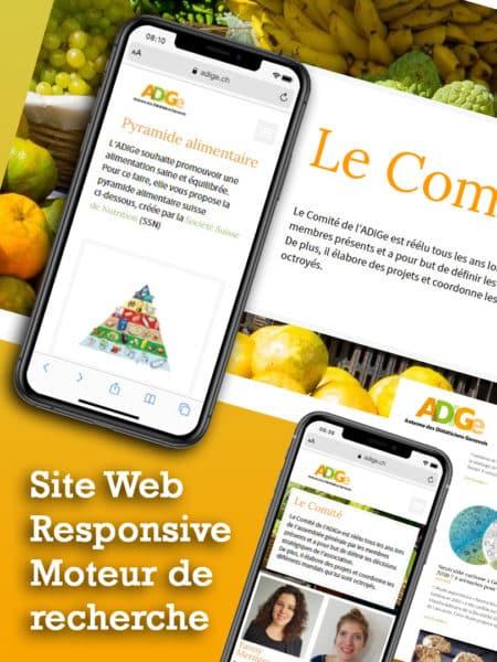 Site web Responsive pour L'antenne des Diététiciens Genevois